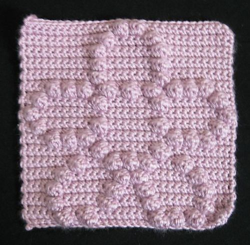 Free Crochet Bobble Stitch Afghan Patterns : Ravelry: Bobble Flower Block pattern by Teri Heathcote ...