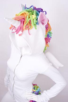 unicorn hoodie! love the mane!