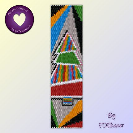 Peyote Pattern / Loom pattern for bracelet: Funky Christmas - PDF - buy 2 get 1 free mix and match offer - bp288. $6.50, via Etsy.