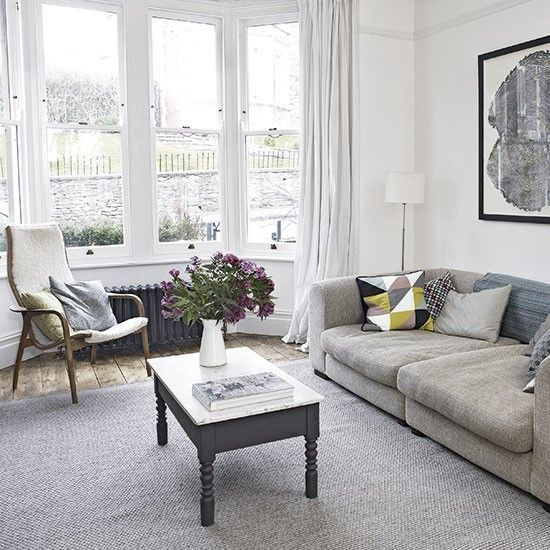 Today S Bay Window Are Anything But Traditional If You Re Thinking About Adding Them To Your Home H Victorian Living Room Living Room White Livingroom Layout