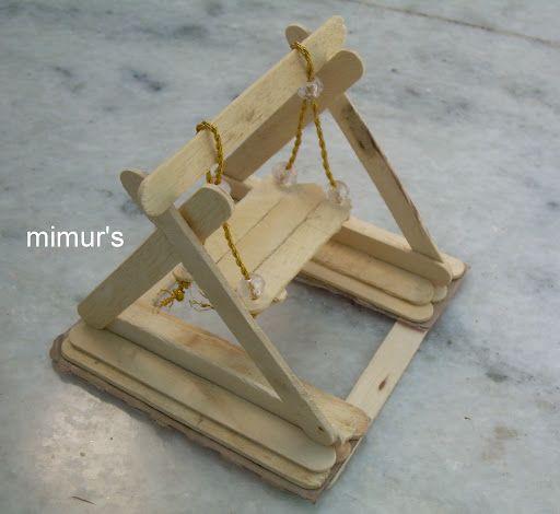 popsicle stick crafts for adults swing jhoola. Black Bedroom Furniture Sets. Home Design Ideas