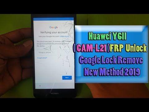 Huawei Y6ii Cam L21 Frp Unlock Google Lock Remove New
