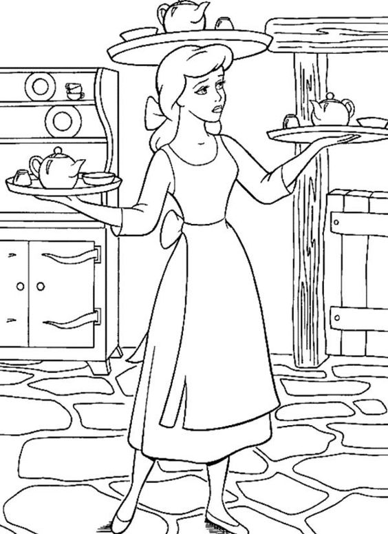 servant coloring pages - photo#33