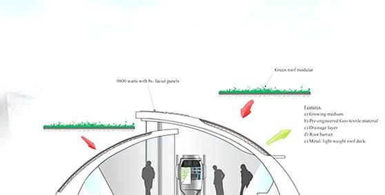 Concept Design For Harbin City Green Bus Stop Project 2011 2012 In 2020 Bus Stop Design Architecture Design Concept Bus Stop