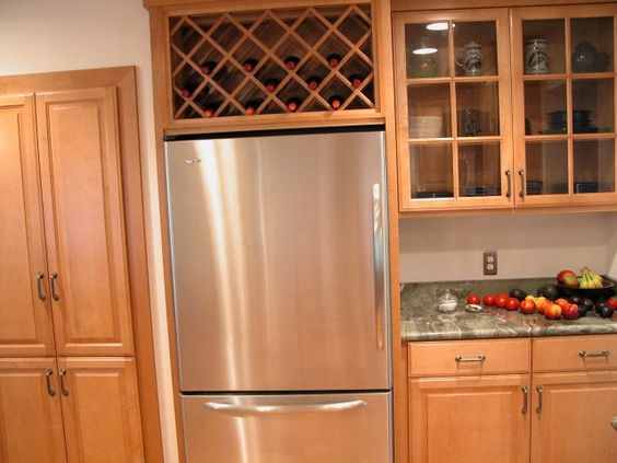 Wine Rack For Unused Space Over The Refrigerator Remove