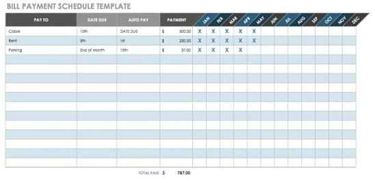 Image Result For Invoice Payment Schedule Template Schedule