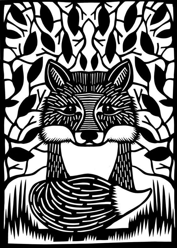 Feeling foxy Paper cut