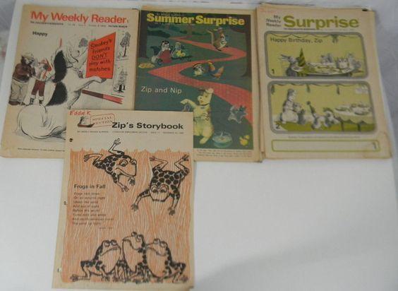 Lot of Vintage Weekely Reader Newspapers 1968 Kindergarten Kids Educational