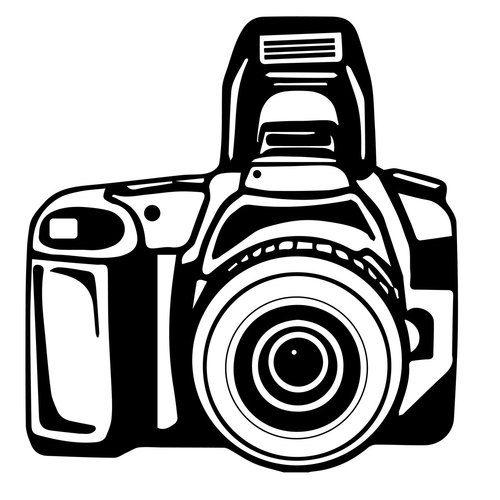 TONS OF OPTIONS Camera Lens Monogram Decal Sticker