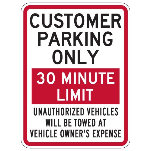 Heavy Gauge Guest Parking Only Sign 12 x 18 inch Aluminum Signs Retail Store