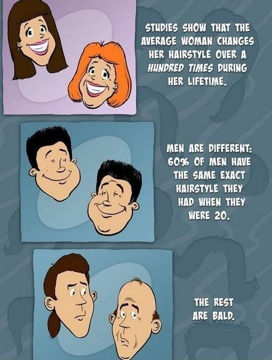 Changing Hairstyles - MEN Vs WOMEN - www.meme-lol.com