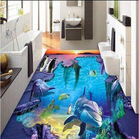 Silengkap 37 Amazing 3d Bathroom Floor Ideas That Can Deceive Your Eyes In 2020 Floor Tile Design Unique Bathroom Tiles Bathroom Flooring