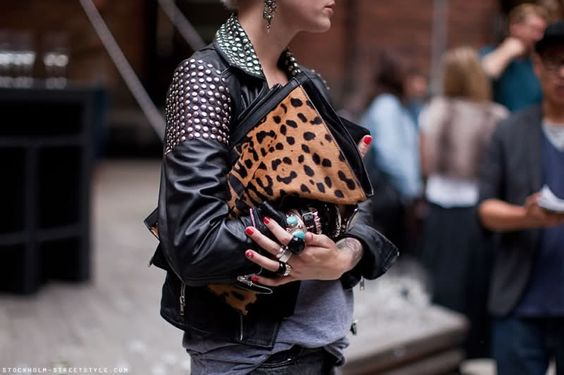 Leopard print and leather.