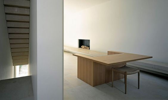 Living room inside the Pawson House in London. Both the interior and the furniture is by John Pawson. Photo by Richard Glover.