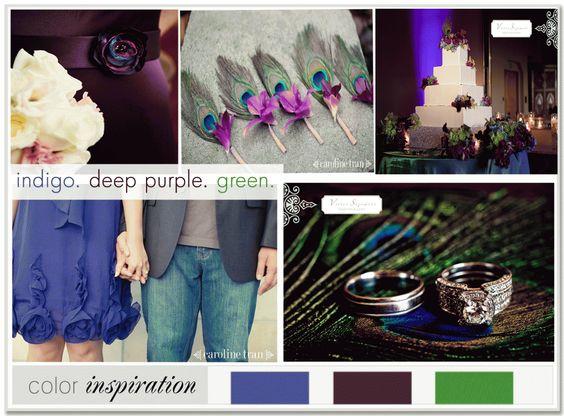 Purple peacock wedding.
