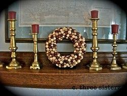 Bead Wreath -  Add a rustic look to your home decor. #Christmas #craft #tutorial