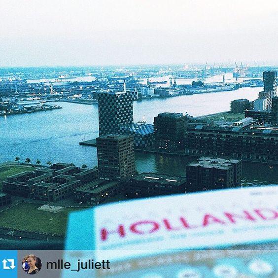#Repost from @mlle_juliett Маленький фрагмент третьего по величине порта в мире и первого в Европе #Rotterdam #port #euromast