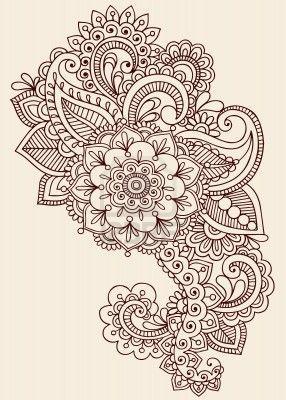 Boceto de mandala para hombro