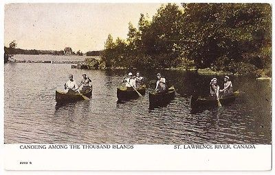 St Lawrence RiverCanada  Canoeing Among The Thousand Islands Vintage Postcard https://t.co/iwqf5EEO2e https://t.co/FicOR4vLab
