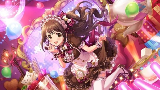 島村卯月メイド風衣装でステージ
