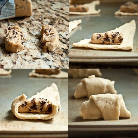 Sweet Treats and More: Chocolate Chip Cookie Stuffed Crescent Rolls