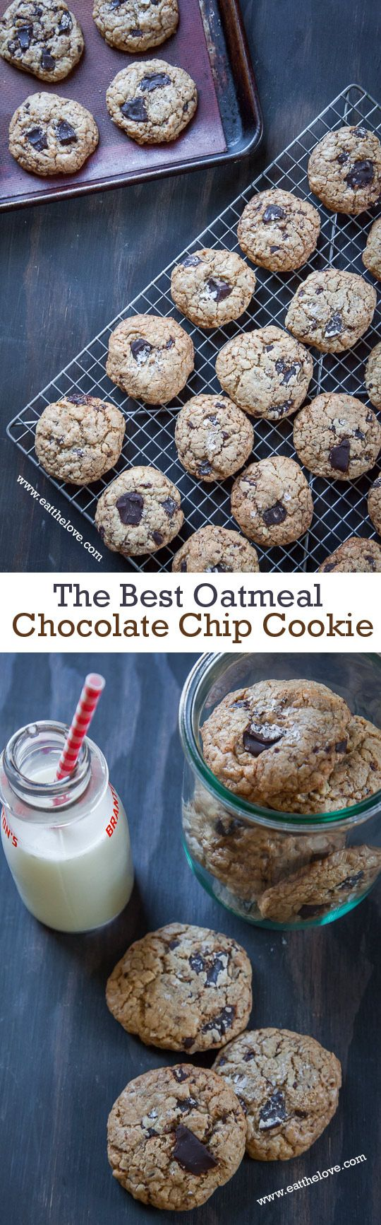 This oatmeal chocolate chip cookie recipe is one of the absolute best ever because of a few special tips and tricks! Seriously. The best ever.