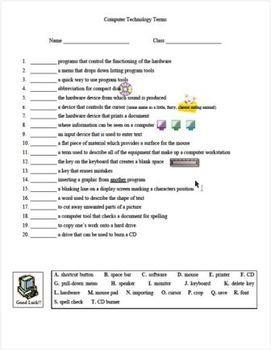 Printables Computer Technology Worksheets computer technology lessons with worksheets for 4th 5th graders