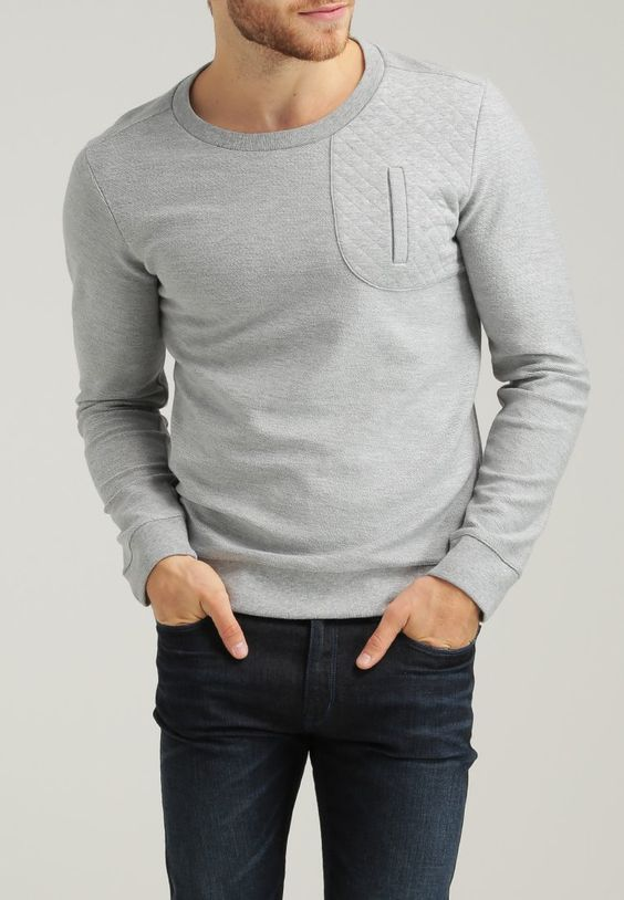HUGO - DALDROP - Sweatshirt - open grey - 65 € (Zalando)