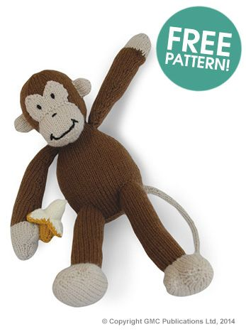 Free Sock Monkey Socks Knitting Pattern
