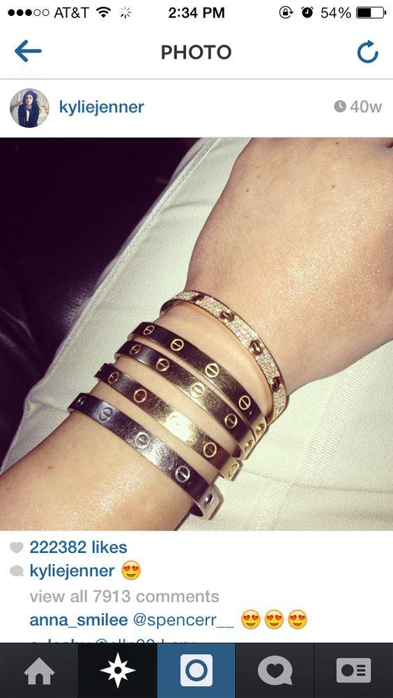 Kylie Jenner cartier love bracelets