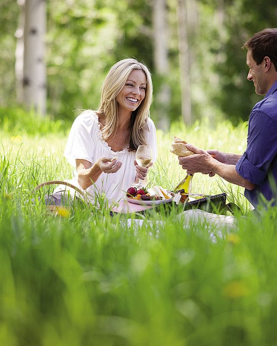 Picnic lunch in the mountains after mushroom hunting!