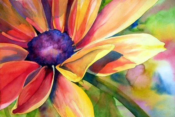 black-eyed susan watercolor by Marni Maree