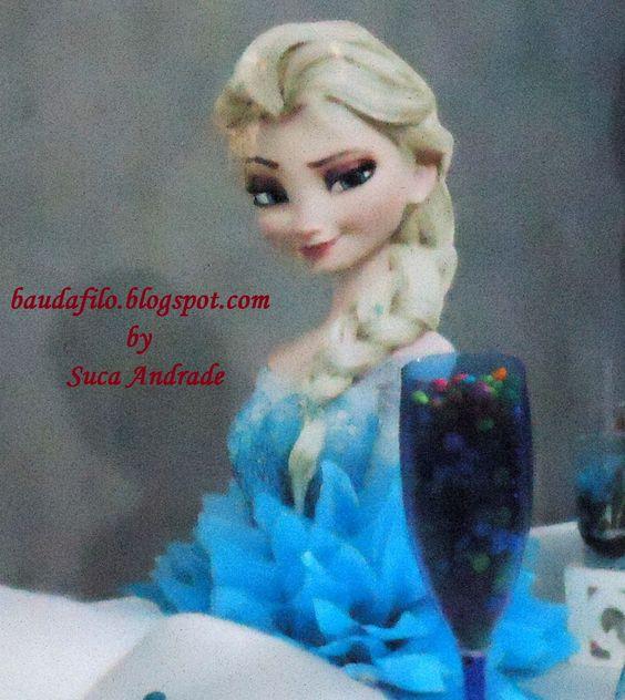 Tema Frozen. Enfeite de mesa.
