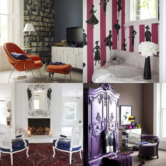 Decor: Creative Rooms, Rustic Rooms, Purple Wardrobe, White Playroom, Morgan S Room, Purple Amour, Purple Laqured, Purple Closet, Purple Armoire
