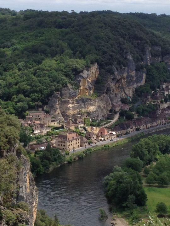 La Roque-Gageac i Aquitaine