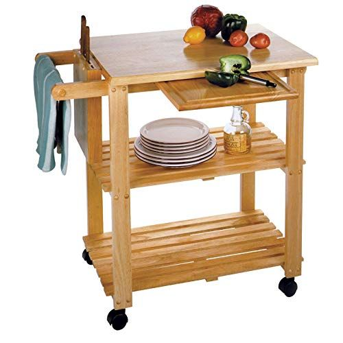 Wood Portable Kitchen Utility Cart Island Timber Kitchen Cart Black Finish New Kitchen Utility Cart Kitchen Cart Solid Wood Kitchens