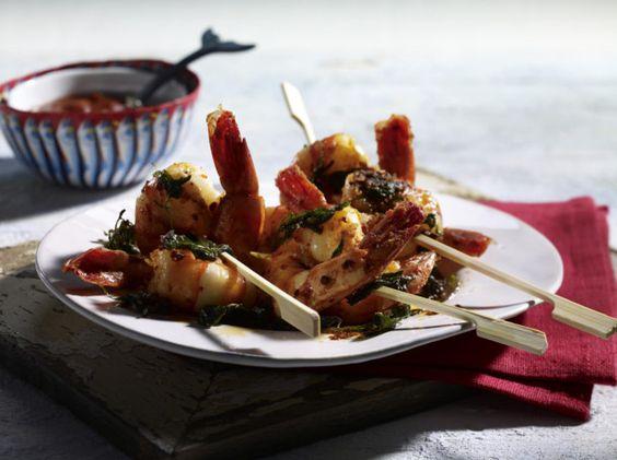 Garnelen dürfen auf keiner Olympia-Party fehlen. Die würzige Peri-Peri-Soße macht das Gericht zu einer geschmacklichen Besonderheit.