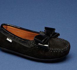 girls VENETTINI Violet Black suede Moccasin shoes size 4Y