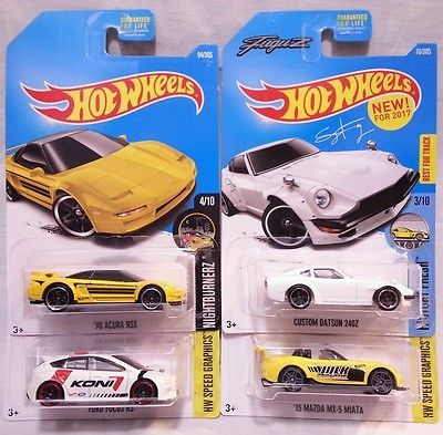 2017 Hot Wheels Fugu Z Datsun 240z 90 Acura Nsx Ford