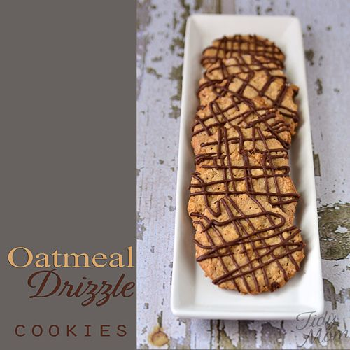 Oatmeal drizzle cookies - the perfect oatmeal cookie
