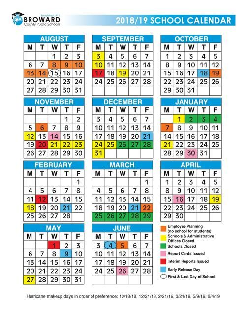 Photos of 2020 And 2021 Broward School Calendar