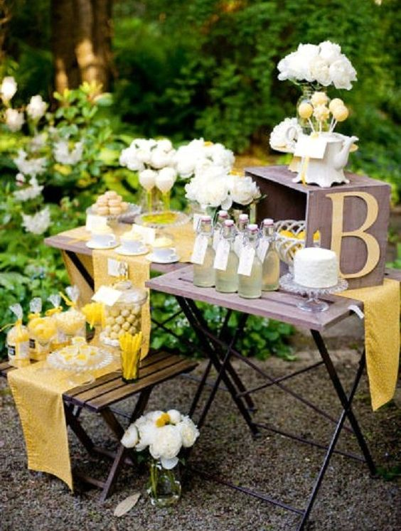 lemon yellow bridal shower