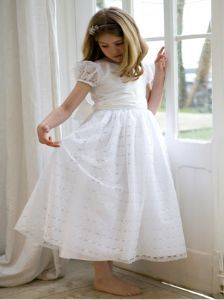 Designer Silk and Lace First Holy Communion Dress - Evie - Nicki ...