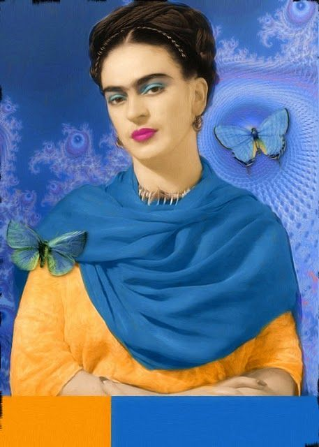 Frida Kahlo de Riviera (1907-1954)  Mexican painter (surrealism, best known for her self-portraits), married to Diego Riviera, famous Mexican artist