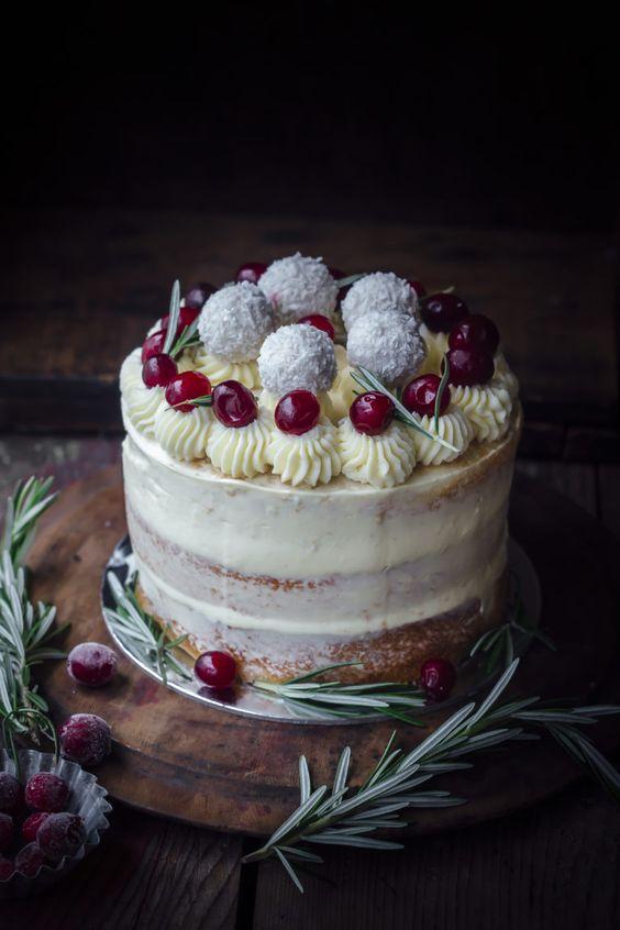 Coconut Cranberry White Chocolate Cake
