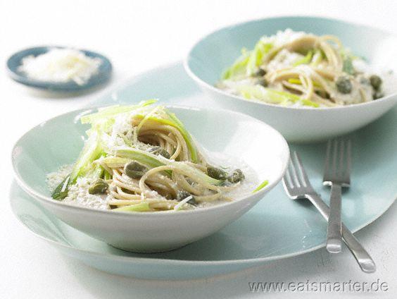 Lauch-Spaghetti mit Thunfischsauce - smarter - Kalorien: 633 Kcal | Zeit: 25 min.