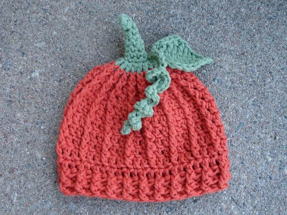 Crochet Halloween Baby Hat Pattern : Crochet Pattern for Halloween Pumpkin Beanie Hat - 5 sizes ...