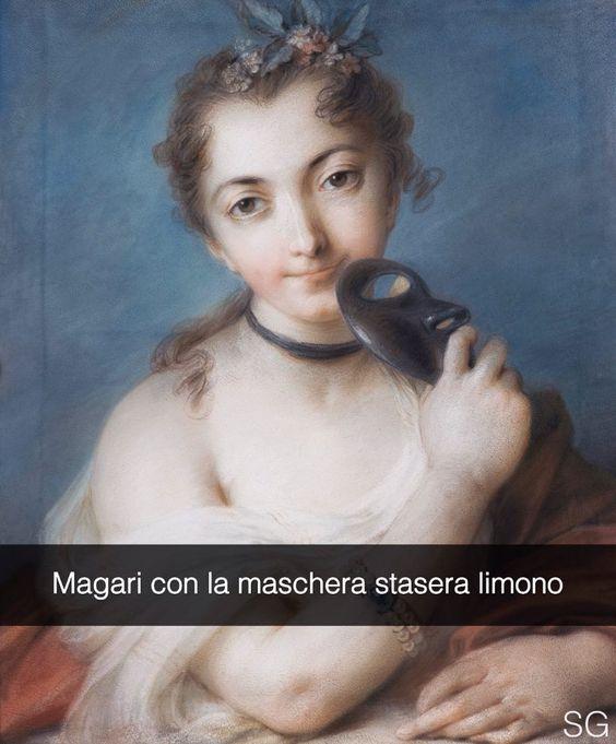 Aggiungimi su Snapchat: stefanoguerrera   Ritratto femminile con maschera - Rosalba Carriera (1720)  #stefanoguerrera  #seiquadripotesseroparlare