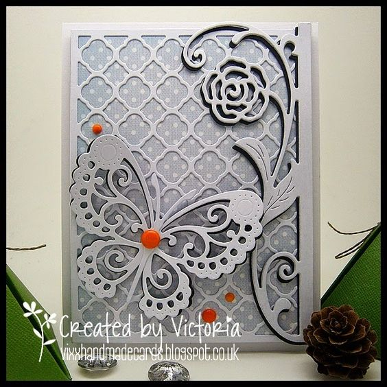 Vixx Handmade Cards: WILD ROSE STUDIO DT POST ~ BUTTERFLY LACE...