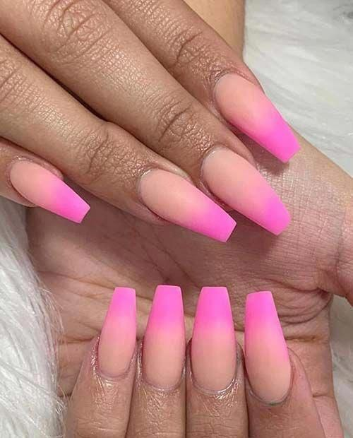 Short Nail Designs In 2020 Pink Ombre Nails Ombre Nails Neon Nails